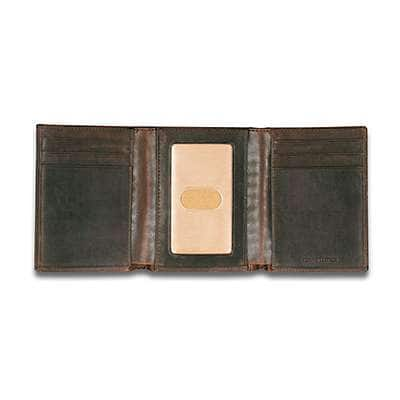 Carhartt  Carhartt Brown Oil Tan Trifold Wallet - back