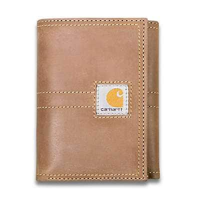 Carhartt Men's Brown Legacy Trifold Wallet - front