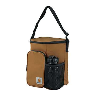 Carhartt Unisex Brown Vertical Lunch Cooler With Water Bottle