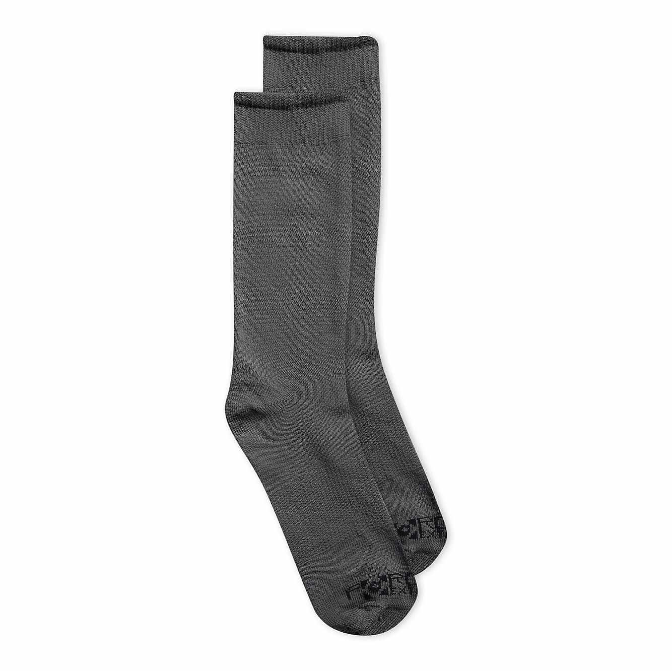 Picture of Force® Base Layer Liner Crew Sock 3 Pack in Gray