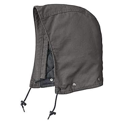 Carhartt Men's Gravel Sandstone Hood/Midweight-Polyester Lined - front