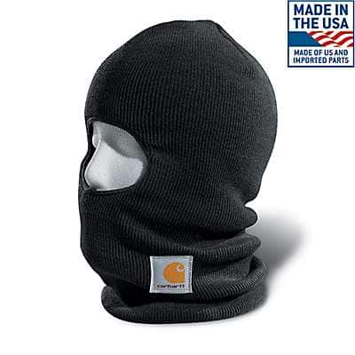 Carhartt Men's Black Face Mask - front