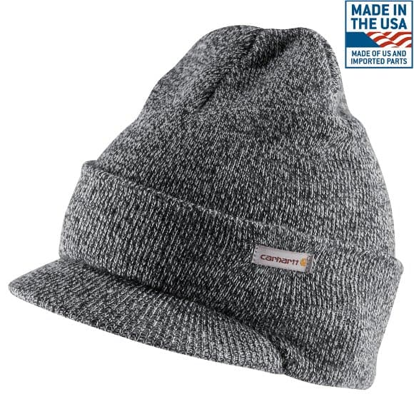 Men s Knit Hat with Visor A164  5000748f760