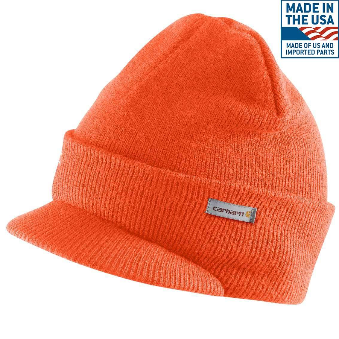 b7a69b702bf Men s Knit Hat with Visor A164