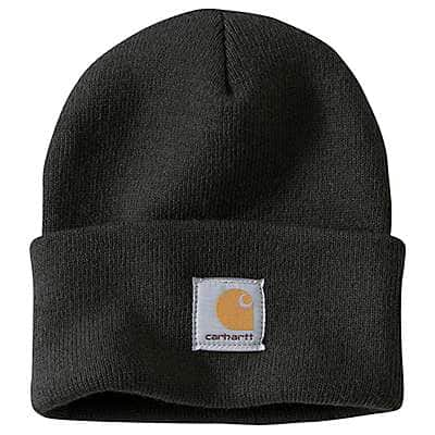 Carhartt Men's Black Acrylic Watch Hat - front