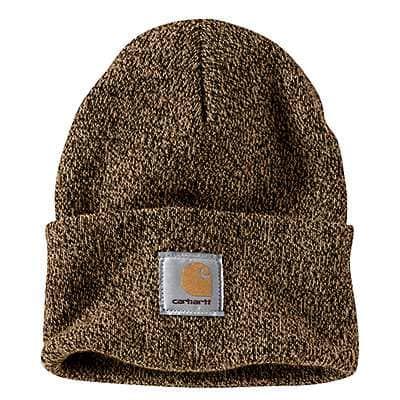 Carhartt Men's Dark Brown/Sandstone Knit Cuffed Beanie