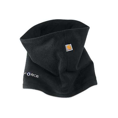 Carhartt Men's Black Fleece Neck Gaiter - front