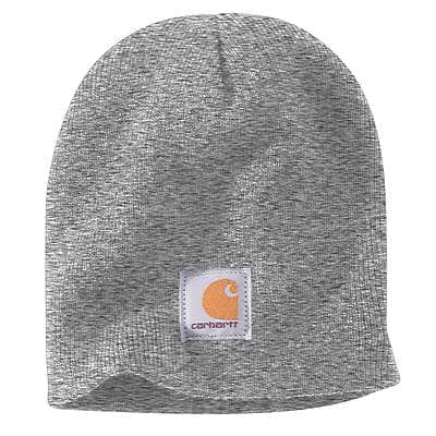 Carhartt Men's Heather Grey/Coal Heather Acrylic Knit Hat - front