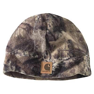 Carhartt Men's Mossy Oak Break-Up Country Camo Fleece Hat - front