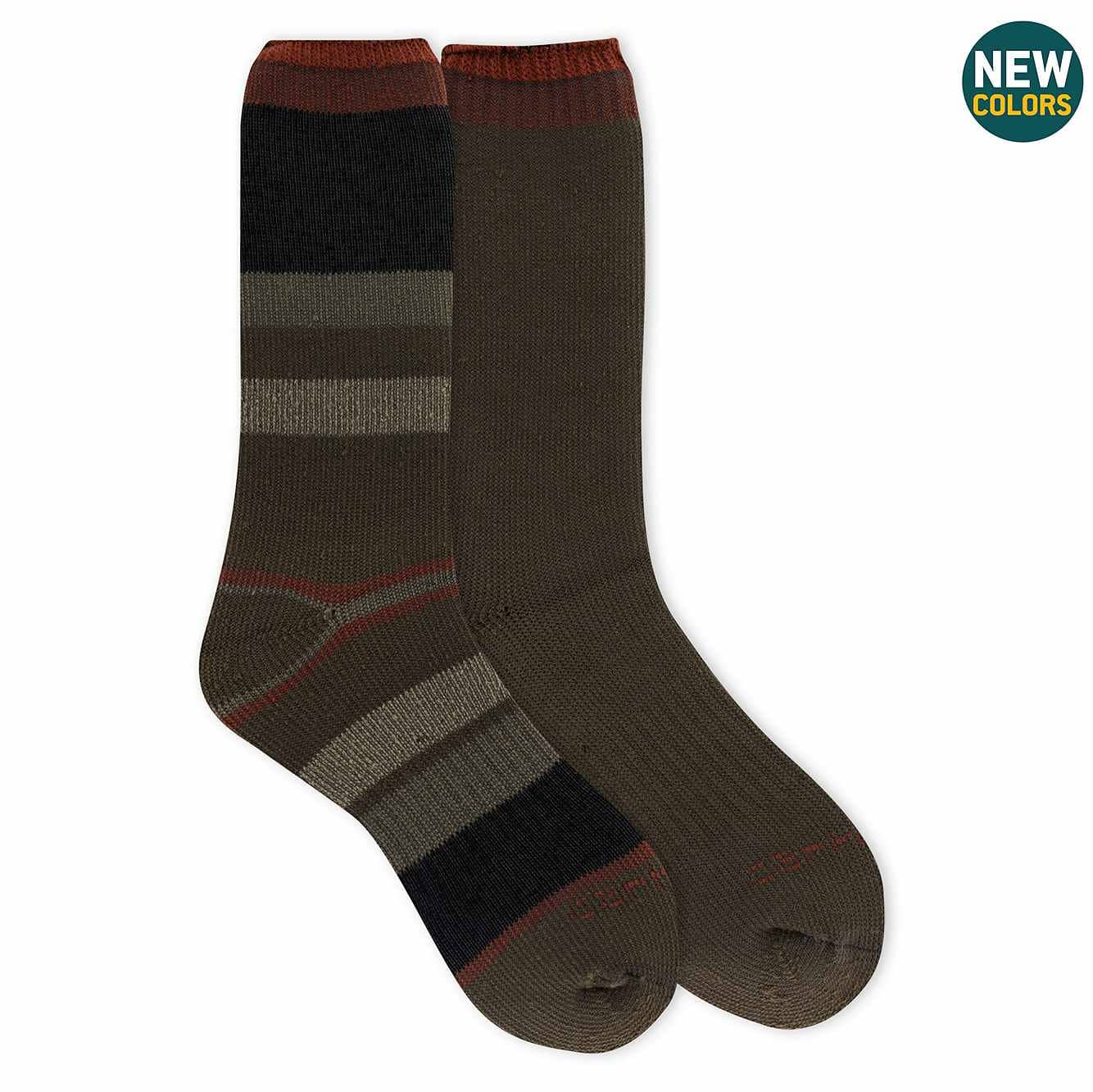 Picture of Arctic Thermal Crew Sock 2 Pack in Brick
