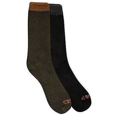 Carhartt Men's Green Arctic Thermal Crew Sock 2 Pack - front