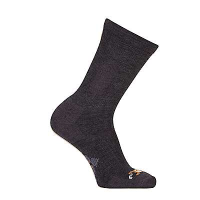 Carhartt Men's Charcoal Heather Force Extremes® Cushioned Crew Sock, 3 Pack - front