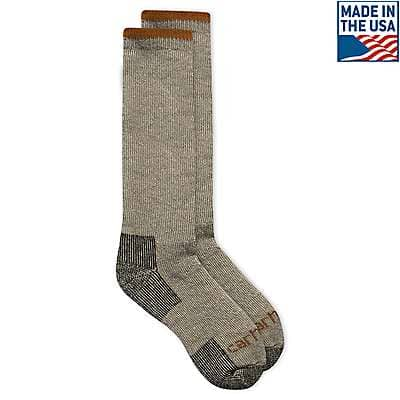 Carhartt Men's Heather Gray Arctic Wool Heavyweight Boot Sock - front