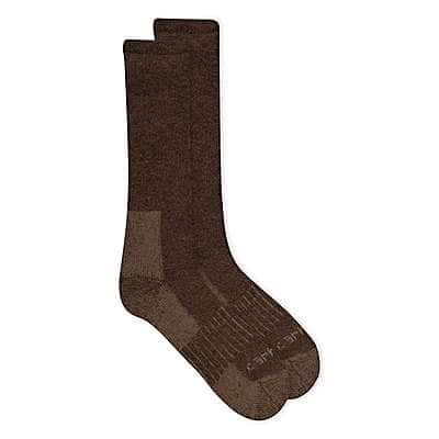 Carhartt Men's Carhartt Brown Full-Cushion Recycled Wool Crew Sock - front