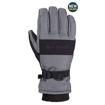 Carhartt Men's Black Dark Gray Waterproof Insulated Glove - front