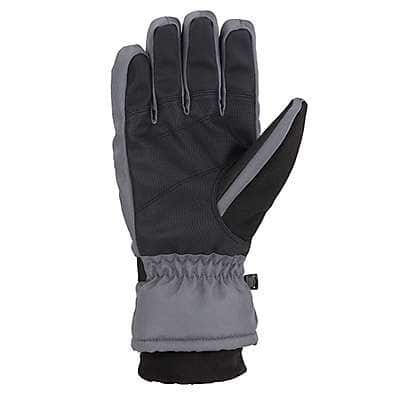 Carhartt Men's Black Dark Gray Waterproof Insulated Glove - back