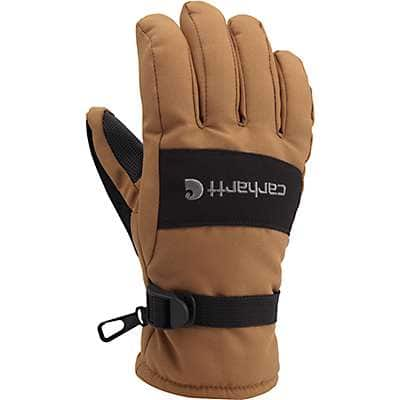 Carhartt Men's Black Dark Gray Waterproof Insulated Glove - front