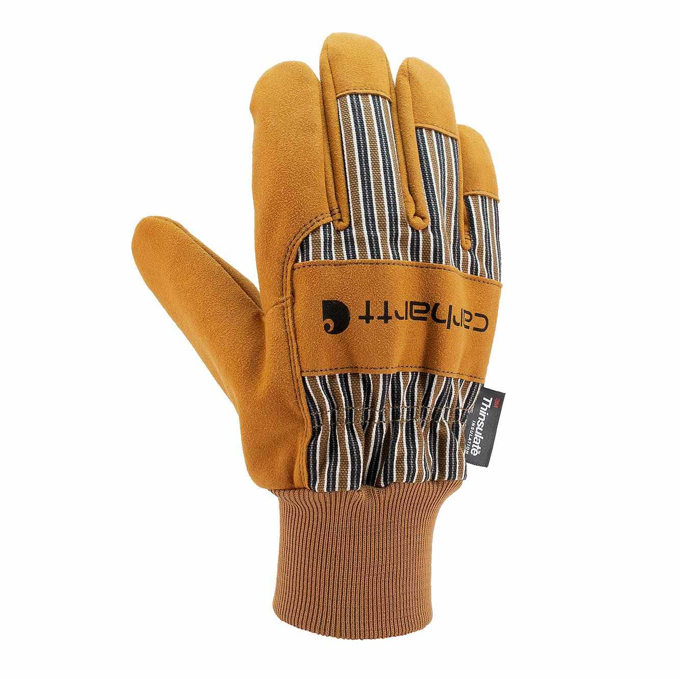Picture of Insulated Synthetic Suede Knit Cuff Work Glove in Brown