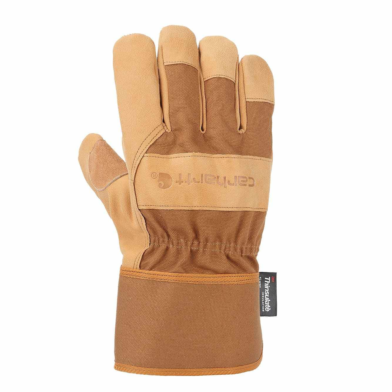 Picture of Insulated Grain Leather Safety Cuff Work Glove in Carhartt Brown