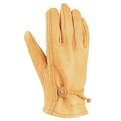 Carhartt Men's Carhartt Brown Leather Driver Glove - front