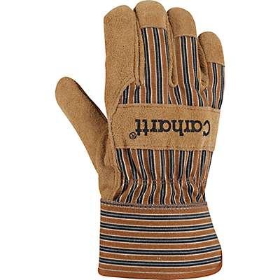 Carhartt Men's Carhartt Brown Insulated Suede Safety Cuff Work Glove - front