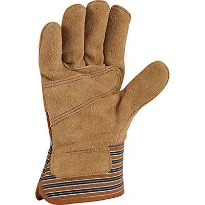 Carhartt Men's Carhartt Brown Insulated Suede Safety Cuff Work Glove - back