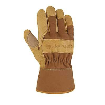 Carhartt  Carhartt Brown Grain Leather Safety Cuff Work Glove - front