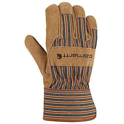 Carhartt  Carhartt Brown Suede Safety Cuff Work Glove - front