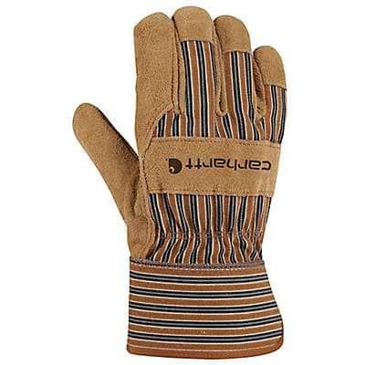 Carhartt Men's Carhartt Brown Suede Safety Cuff Work Glove - front