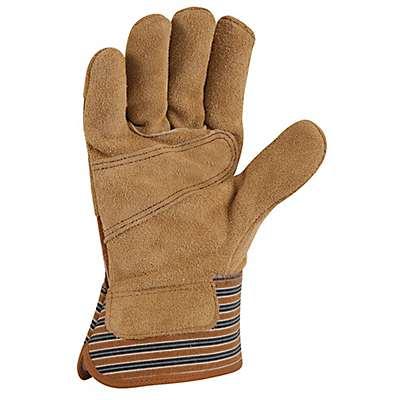 Carhartt Men's Carhartt Brown Suede Safety Cuff Work Glove - back