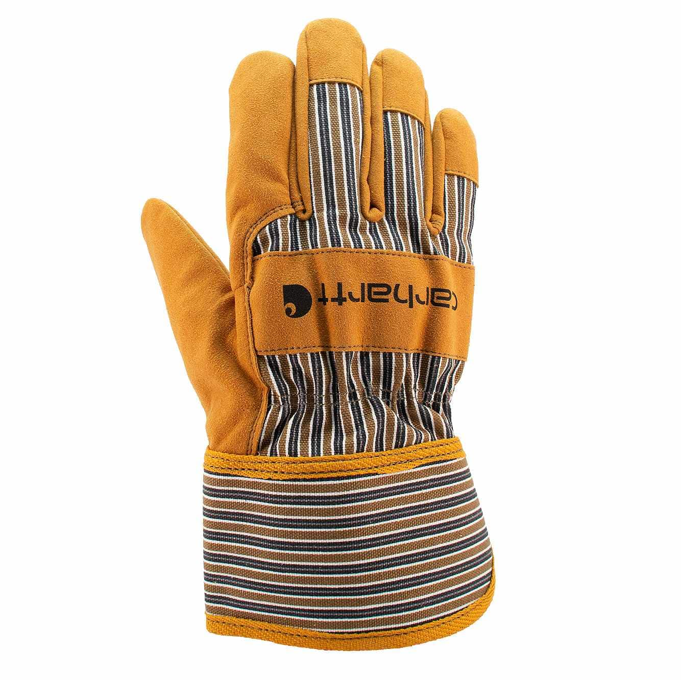 Picture of Synthetic Suede Safety Cuff Work Glove in Brown