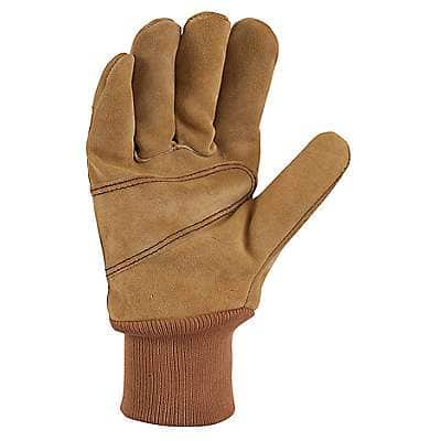 Carhartt Men's Carhartt Brown Suede Knit Cuff Work Glove - back