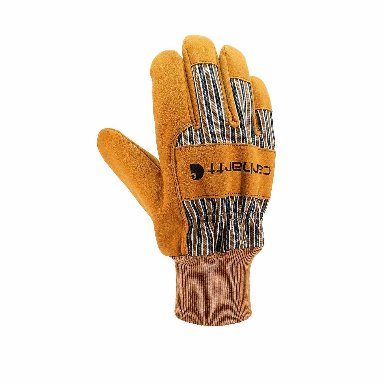 Picture of Synthetic Suede Knit Cuff Work Glove in Brown