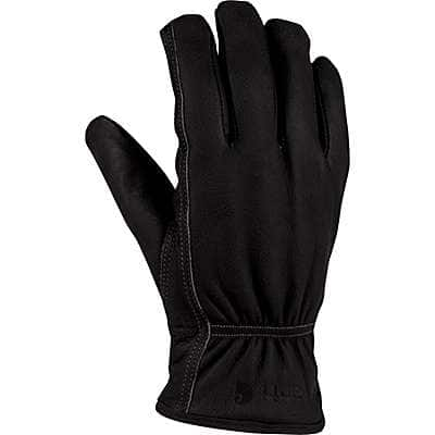 Carhartt Men's Black Insulated Leather Driver Glove - front