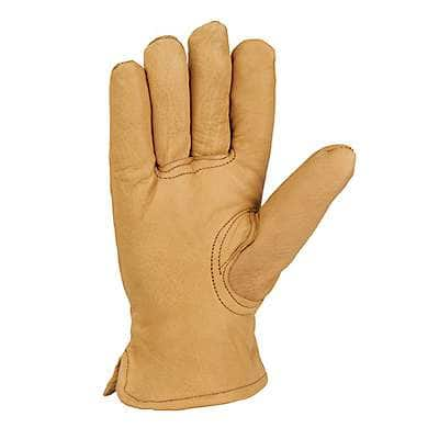 Carhartt Men's Black Insulated Leather Driver Glove - back