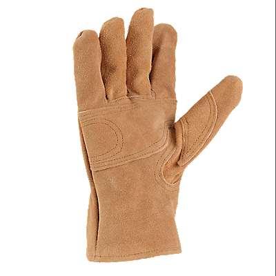 Carhartt Men's Carhartt Brown Leather Fencer Work Glove - back