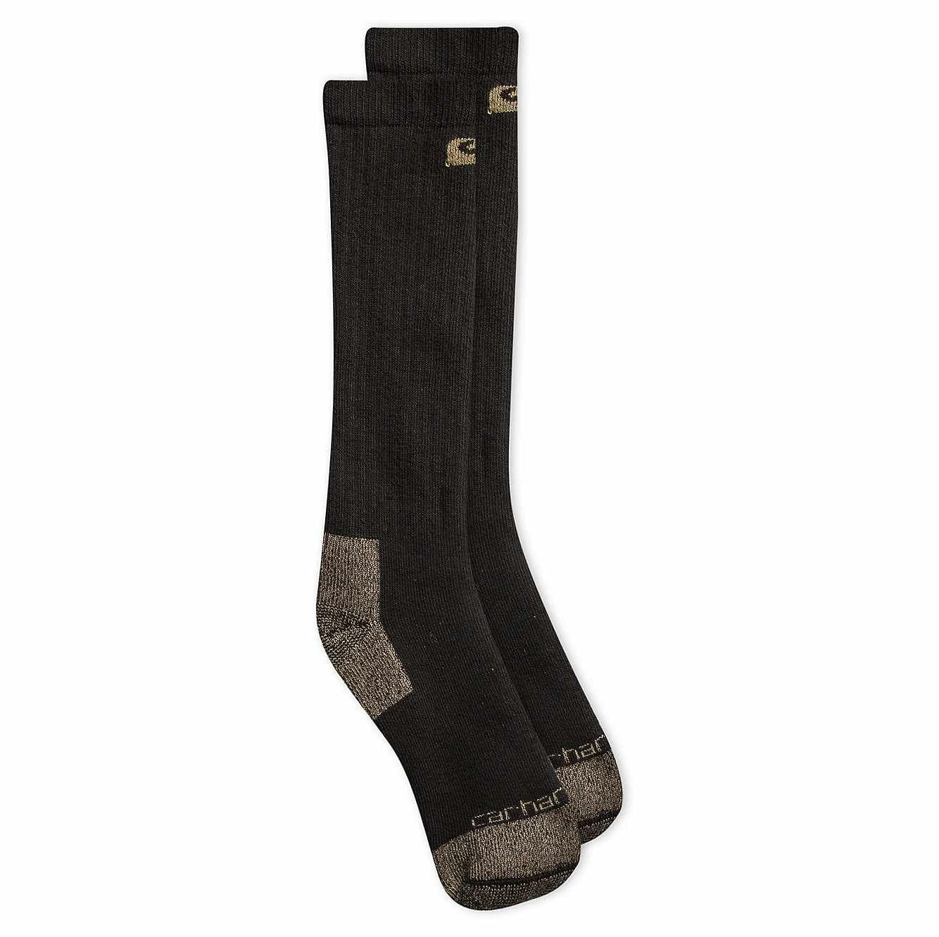 Picture of Full Cushion Steel-Toe Cotton Work Boot Sock 2 Pack in Black