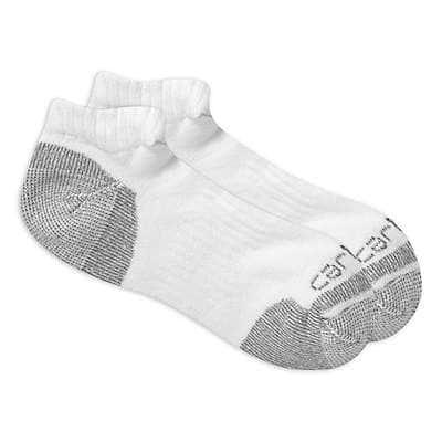 Carhartt Men's White Cotton Low Cut Work Sock 3 Pack