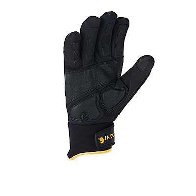 Carhartt Men's Black Yellow Sledge Hammer High Dexterity Glove - back