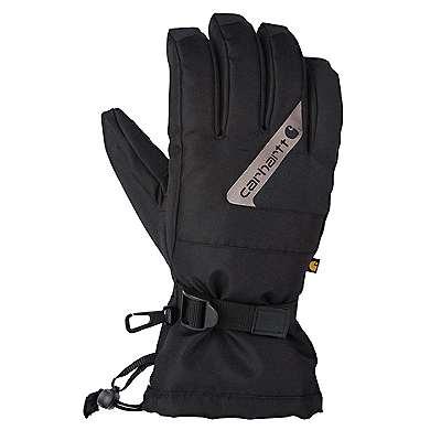 Carhartt Men's Black Dark Gray Pipeline Glove - front