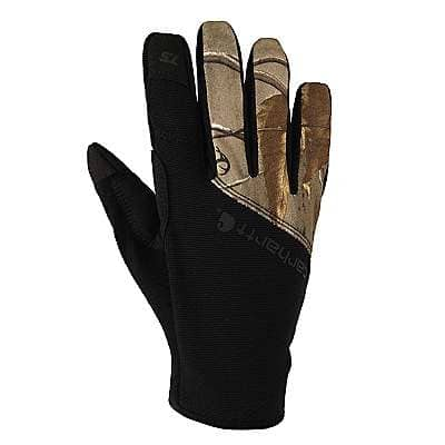 Carhartt Men's Camo A/P Pocket Work Flex Touch Camo Glove - front