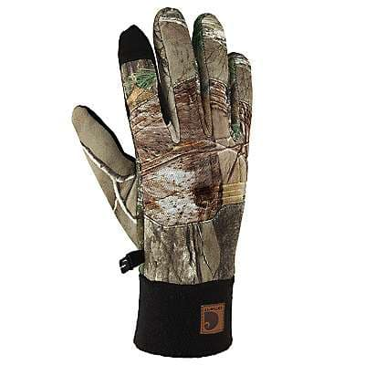 Carhartt Men's Camo A/P Lightweight Shooting Camo Glove - front