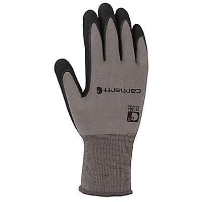 Carhartt Men's Gray Waterproof Breathable Nitrile Grip Glove - front