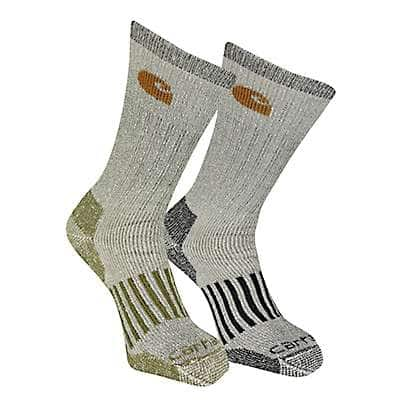 Carhartt Men's Gray Wool Blend Crew Sock 4 Pack - front