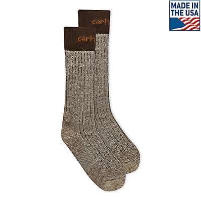 Carhartt Men's Navy Steel Toe Arctic Wool Boot Sock - front