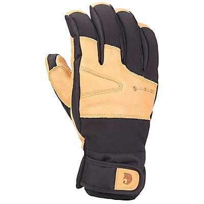 Carhartt Men's Black Brown Winter Dex Cow Grain Insulated Glove - front
