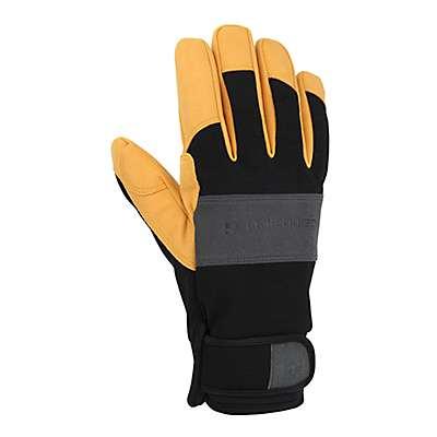 Carhartt Men's Black Barley Waterproof Breathable High Dexterity Glove - front