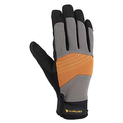 Carhartt Men's Dark Grey Brown Trade Grip High Dexterity Glove - front