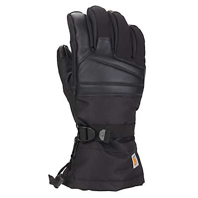 Carhartt Men's Black Barley Cold Snap Insulated Glove - front