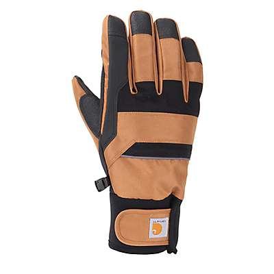 Carhartt Men's Black Brown Flexer Insulated Glove - front